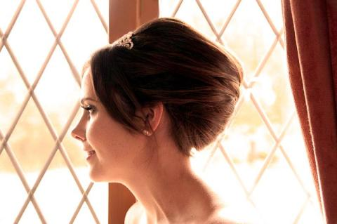 Bridal Hair Up with pleat twist