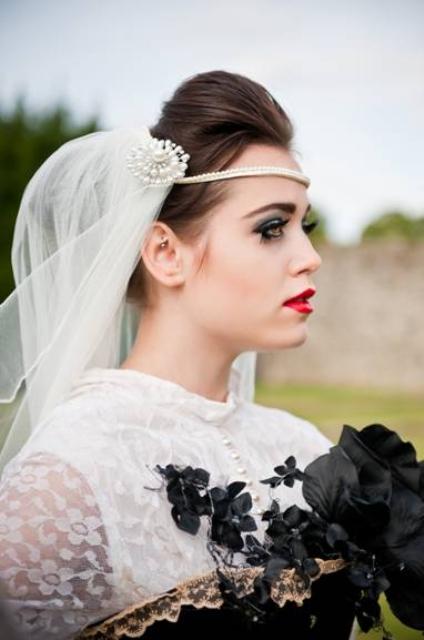 vintage gothic bridal make up