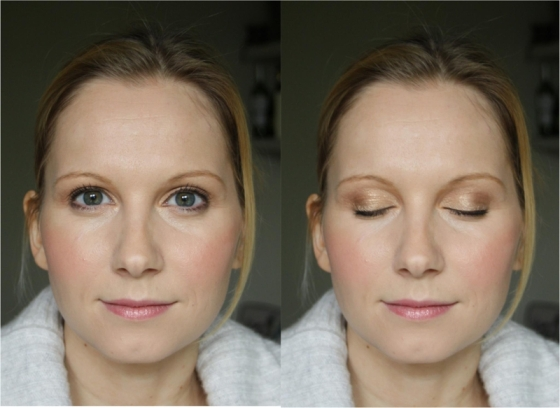 Blonde Hair Geen Eye Bridal Makeup