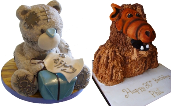 Tatty Bear Cake and Alf Cake