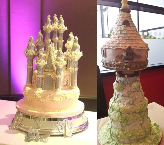 Fairytale Castle and Rapunzel Birthday Cake