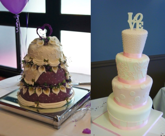 Cala Lily Cake and 4 Tiered Love Cake