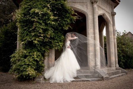 Wedding Couple Cathedral Length Veil