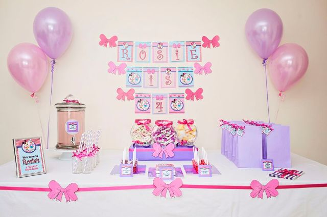 4 year old girls birthday sweet buffet