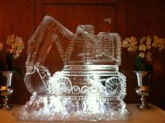 Digger carved in Ice