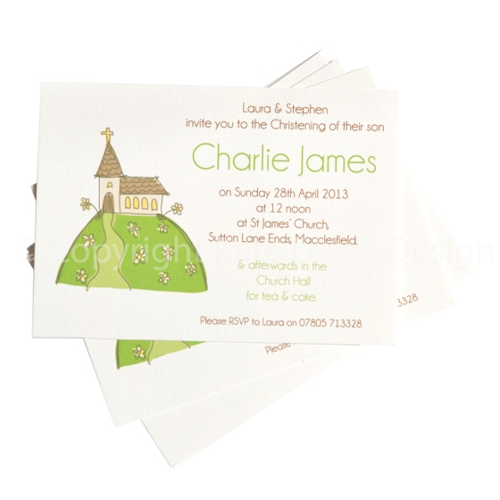 christening CHURCH postcard lr