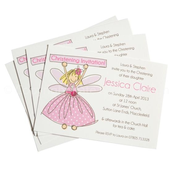 christening GIRL postcard lr