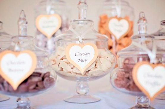 Sweet Jars with Chocolate Mice Buffet