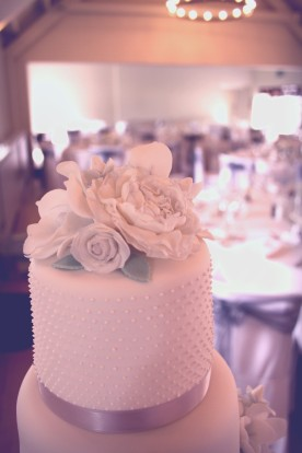 Parisian pearl and vintage flowers Wedding Cake Top