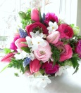 Hot Pink and Baby Pink Wedding Flowers