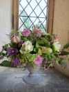 Pretty Pinks, Lilacs and Green Wedding Flowers