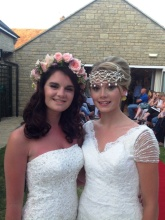 Floral Hair Garland and Sparkly Gatsby Headpiece