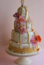 Gold Birdcage Wedding Cake