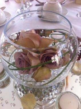 Fishbowl Centrepiece for Wedding Breakfast