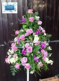 6. Large Floral Pedestal
