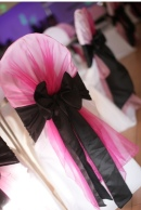 Hot Pink and Black Chair Covers