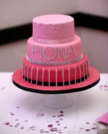 Pink Ombre Birthday Cake with Diamontes