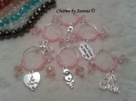 Charms by Joanna wine glass