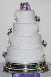 Cottage Kitchen Cake Company purple and white