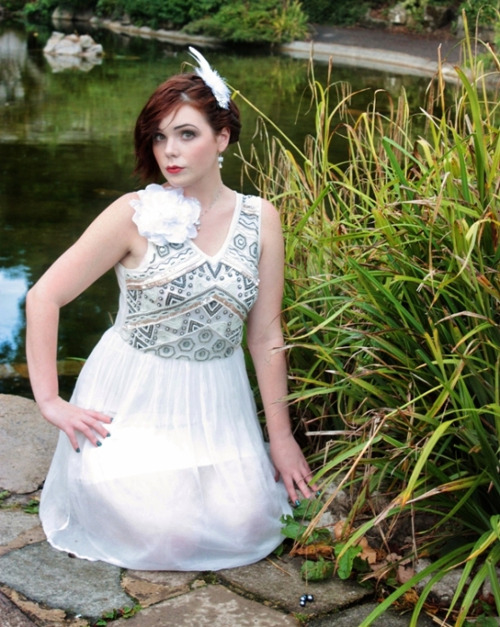 Jazz Era inspired Wedding Dress Black Pearl Weddings