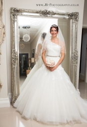 Beautiful Bride to Be in White Princess Dress