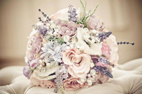 Lilac Blue And Pink Wedding Bouquet LOVE Bouquets