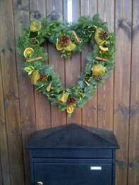10) Distinctive Petals heart wreath