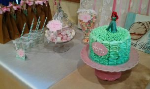 Ariel Birthday Cake Pink Tea Parties