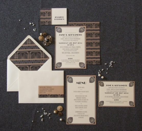 Deco Glamour Wedding Stationery