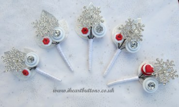 Iheartbuttons snowflake buttonhole