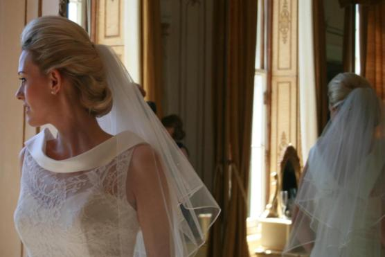 Vintage Low Wedding Veil Bridal Hairstyle