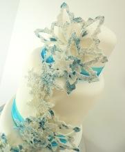 Melissa Woodland blue snowflake cake