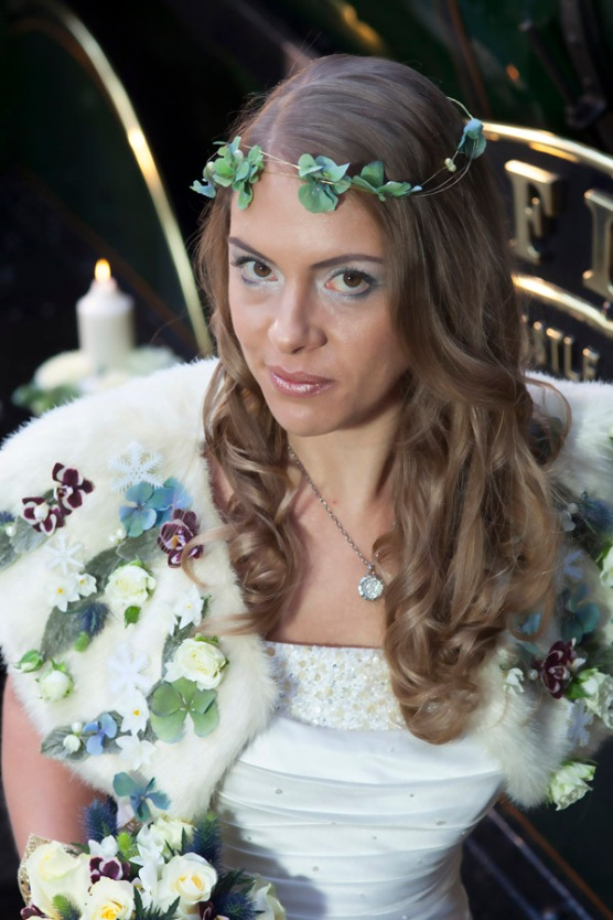 Snow Queen Floral Bolero