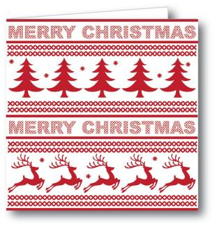 Red and White Merry Christmas Card from Kathryn Deeley