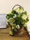 Signature Flowers by Emma white and green pot