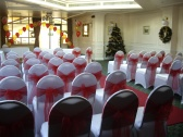 Stylish Events, Wedding Red & Gold Balloons & Chair Covers, Milton Keynes