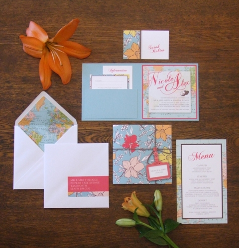 Tropical Travel Wedding Stationery