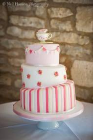 Pretty Cake Company pink teacup cake