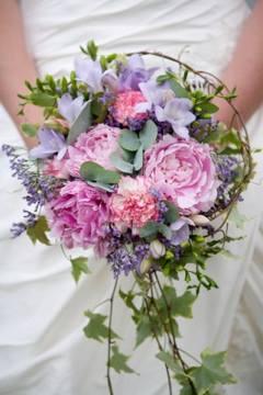 Robins Flowers blue and purple