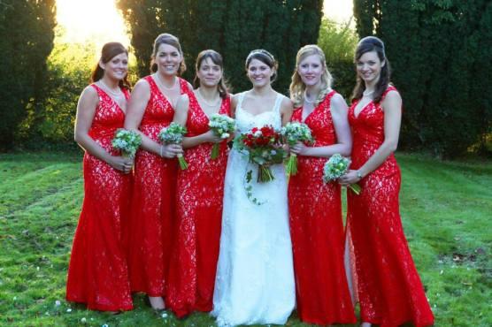 Robins Flowers bridesmaids