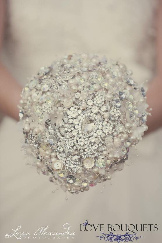Sparkly Crystal Bridal Bouquet