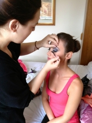Applying False Eyelashes Bridal Make Up Masie