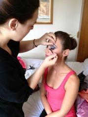 Applying False Eyelashes Bridal Make Up Masie