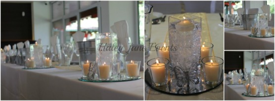 HJE centre pieces candles