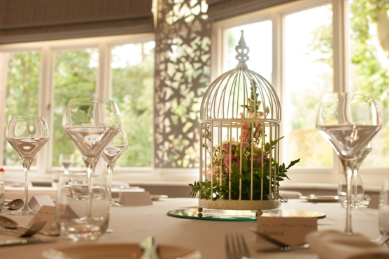 Birdcage Centrepiece The Green House Hotel Bournemouth