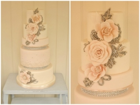 Lilibet Bakes bling and roses cake