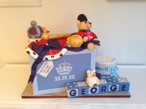 Prince George First Birthday Cakes by Shelly