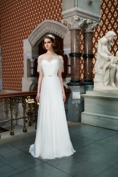 Justin Alexander Wedding Dress with sweetheart neckline
