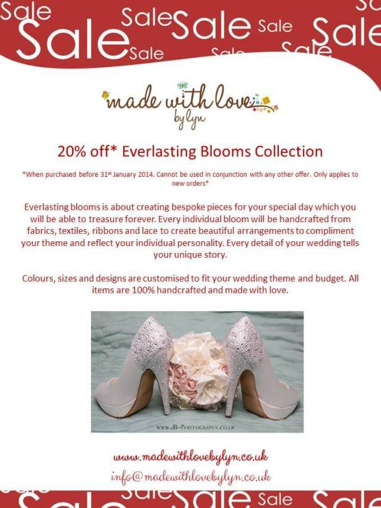 Made with Love by Lyn Special January Bridal Bouquet Offer