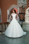 Justin Alexander Princess Style Wedding Dress with lace detailing
